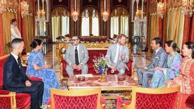 Photo of الملك محمد السادس يقيم حفل شاي على شرف الأمير هاري وعقيلته
