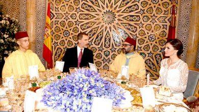 Photo of الملك محمد السادس يقيم مأدبة عشاء رسمية على شرف عاهلي إسبانيا