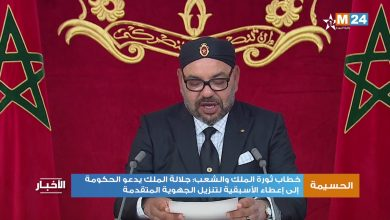 Photo of خطاب ثورة الملك والشعب: الملك يدعو الحكومة إلى إعطاء الأسبقية لتنزيل الجهوية المتقدمة