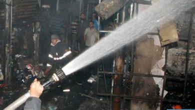 """Photo of اندلاع حريق بسوق المتلاشيات """"سيدي يوسف"""" بأكادير"""