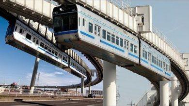 Photo of شاهد القطار المعلق الأشهر في اليابان.. مشاهد تحبس الأنفاس