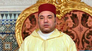 Photo of برقية تعزية ومواساة من جلالة الملك إلى أفراد أسرة المرحوم أحمد أمسروي بلحسن
