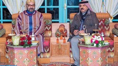 Photo of بلاغ الديوان الملكي حول فحوى اتصال هاتفي تلقاه الملك محمد السادس من ملك البحرين