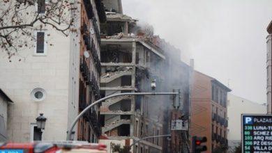 Photo of انفجار قوى يتسبب في انهيار جزء من مبنى وسط مدريد