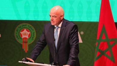 "Photo of رئيس الاتحاد الدولي لكرة القدم ""جياني إنفانتينو"" يحل بالمغرب"