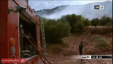 Photo of بالفيديو:  بؤر الحرائق تتوسع بغابة أمسكرود شرق أكادير