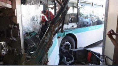 """Photo of صور الحافلة وضحاياها لدى اقتحامها مقهى بمدار """"عائشة"""" بالدار البيضاء"""