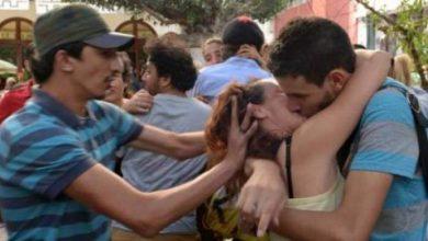 Photo of بالفيديو .. ردة فعل أحد الحاضرين لتجمع البوس في الرباط باقين رجال