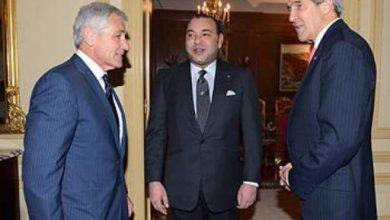Photo of الملك محمد السادس يستقبل كاتب الدولة الأمريكي جون كيري وكاتب الدولة في الدفاع تشاك هاغل
