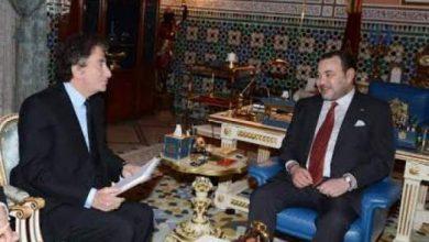 """Photo of """"المغرب بألف لون"""": الملك محمد السادس يستقبل رئيس معهد العالم العربي بباريس"""