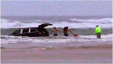 Photo of فيديو: أم تحاول قتل أطفالها الثلاثة والانتحار في مياه المحيط