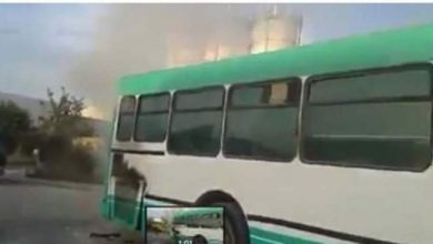 Photo of حافلة تحترق و بها مواطنين في القنيطيرة