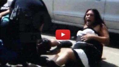 Photo of فيديو .. اعتداء وحشي للشرطة على رجل وزوجته الحامل