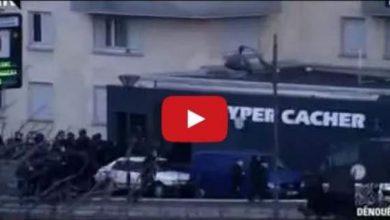 Photo of لحظة خروج الرهائن من متجر الأطعمة اليهودية بباريس   المزيد: