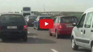 Photo of ازدحام كبير في الطريق السيار بسبب العطلة المدرسية