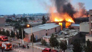 Photo of اندلاع حريق مهول يأتي على ثلاث هكتارات بمعمل لإنتاج علب التلفيف