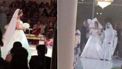 "Photo of بالصور: حفل زفاف ""مرصع بالألماس"""