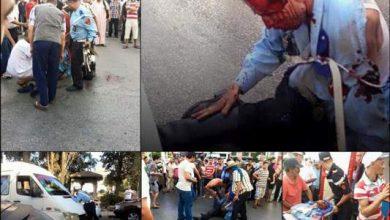 Photo of شاهد لحظة جر شرطي طنجة بالسيارة التي دهسته