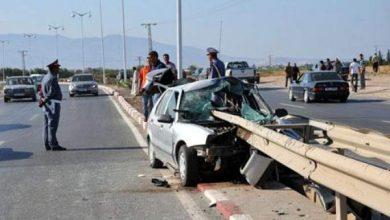 Photo of مصرع شخصين وإصابة سبعة آخرين في حادثة سير على الطريق الرابطة بين العرائش وتطوان