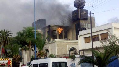 Photo of حريق يأتي على مقر شركة الضحى بالدار البيضاء
